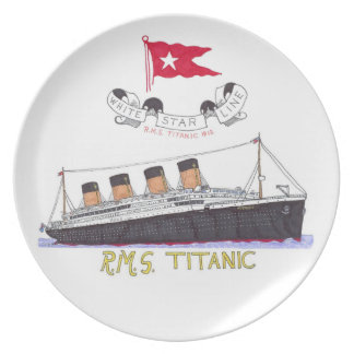White Star Line's Titanic Party Plates