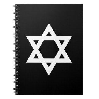 White Star of David Notebook