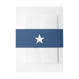 White Star on Patriotic Navy Blue Invitation Belly Band