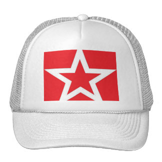 White Star on Red - Hat/Cap Cap