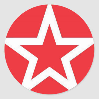 White Star on Red - Sticker