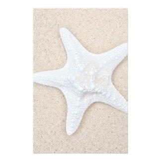 White Starfish at the Beach Stationery