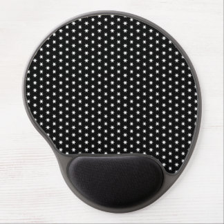White Stars Gel Mouse Pad