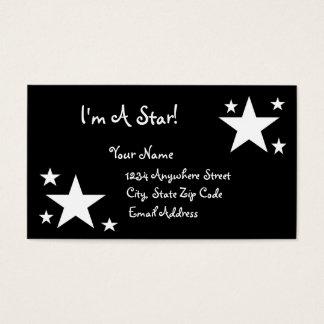 White Stars on Black - I'm a Star! Business Card