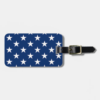 White Stars on Blue Gifts Luggage Tag