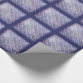 White stars on bold grunge blue tiled paper
