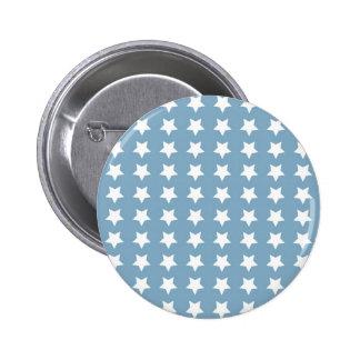 White Stars On Grey Blue Pins