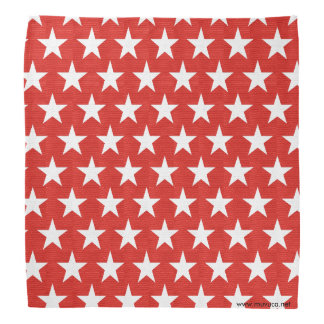 White stars on red background bandana