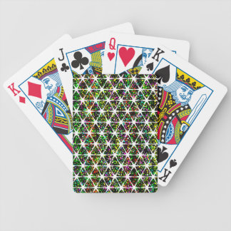 White Stars Pattern Bicycle Playing Cards