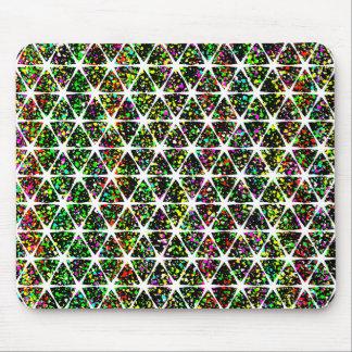 White Stars Pattern Mouse Pad