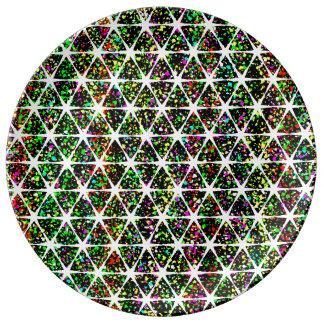 White Stars Pattern Plate