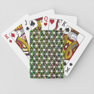 White Stars Pattern Playing Cards