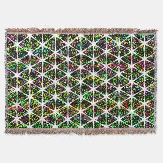 White Stars Pattern Throw Blanket