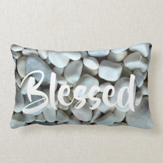 White stone blessed pillow