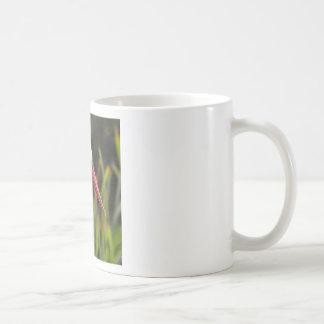 White stork among vegetation coffee mug