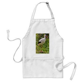 White stork among vegetation standard apron