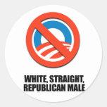 White straight Republican Male Sticker