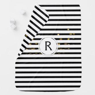 "White Stripes ""faux 3D"" Monogram | Baby Blanket"