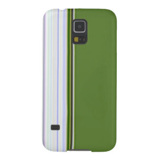 White Stripes on Green Cases For Galaxy S5