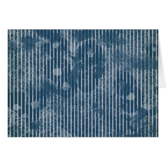 White stripes on grunge texture blue greeting card