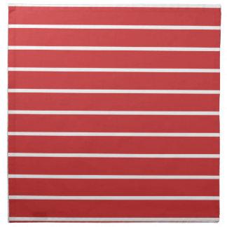 White Stripes ON Red Napkin