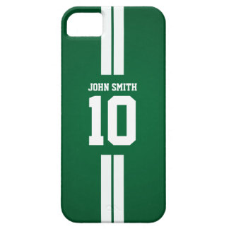 White Stripes Soccer Player Green iPhone 5 Case