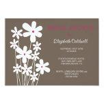 White Summer Bouquet Bridal Shower Invitations