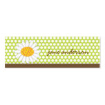 White Summer Daisy Fun Custom Thank You Gift Tag / Pack Of Skinny Business Cards