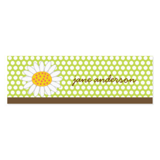 White Summer Daisy Fun Custom Thank You Gift Tag / Business Cards