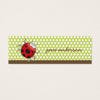 White Summer Daisy + Ladybug Thank You Gift Tag /