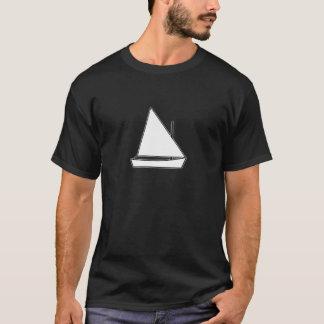 White Sunfish Sailboat Illustration T-Shirt