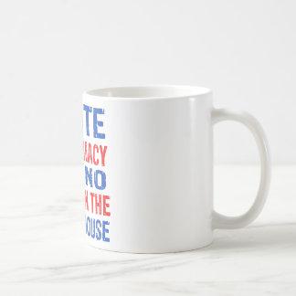white supremacy design coffee mug