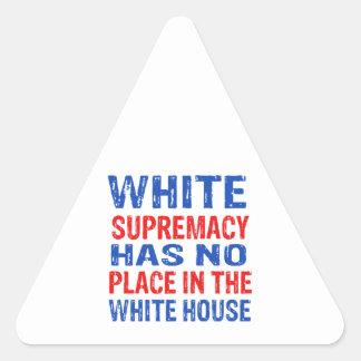 white supremacy design triangle sticker