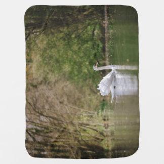 White Swan Baby Blanket