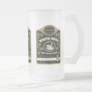 White Swan Brandy Vintage Liquor Label Mugs, Stein