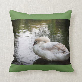 White swan cushion