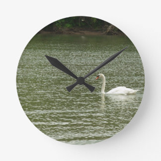 White Swan Lake Wall Clock