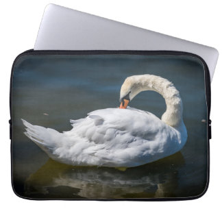 White swan laptop sleeve