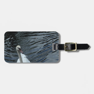 White Swan Luggage Tag