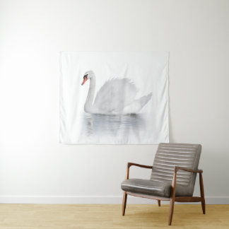 White Swan Medium Wall Tapestry