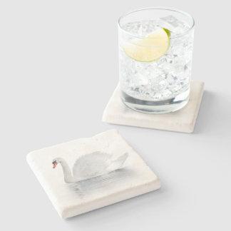 White Swan Stone Coaster