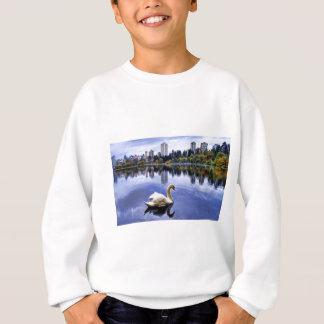 White Swan Swimming In The City Sweatshirt