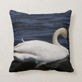 "White Swan, Throw Pillow 16"" x 16"""