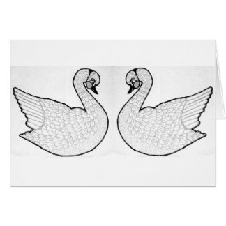 White swans card