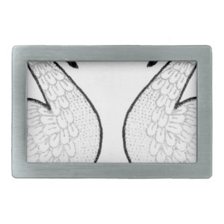 White swans rectangular belt buckle