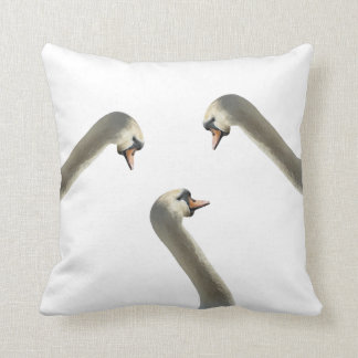 White Swans Throw Pillow