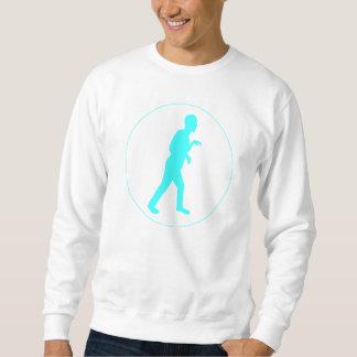 White Sweat Shirt w/ Blue Dino Mode Logo