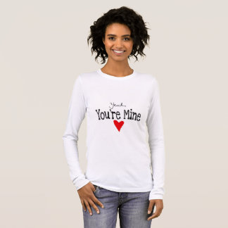 White sweater with romantic message