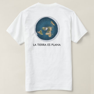white t-shirt map flat earth