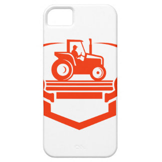 White Tail Deer Antler Tractor Retro Barely There iPhone 5 Case